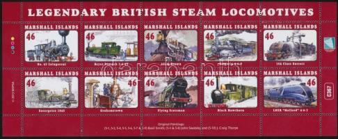 2013 Legendás brit gőzmozdonyok kisív Mi 3179-3188