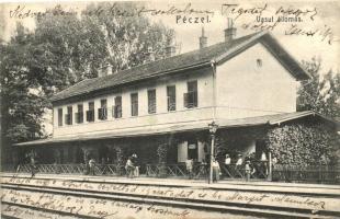 Pécel, vasútállomás, Peschek János kiadása (kis szakadás / small tear)
