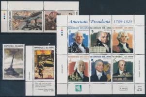 1990-2000 4 klf bélyeg, közte ívsarki pár + kisív