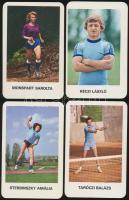 1979 Vegyél részt - edzett ifjúságért, jeles magyar sportolókat (nagyrészt olimpiai bajnokokat) ábrázoló kártyanaptárak, összesen 8 db, mind különböző