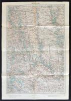 1915 Kolomea és környéke, 1:200000, K. u. k. Militärgeographisches Institut, a hajtások mentén apró szakadásokkal, 62,5×43,5 cm
