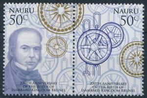 2006 200 éve született Isambard Kingdom Brunel 2 érték párban + kisív Mi 624-625