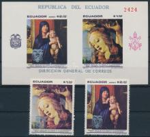 1969 Pápai látogatás sor Mi 1457-1458 + blokk 52
