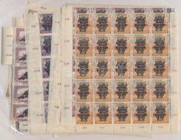 1920 Búzakalász sor ívsarki 25-ös ívdarabokban, vegyes minőség (375.000) / Mi 292-311 sets sheet parts of 25, mixed quality (1,40K 1 bélyeg + 24-es tömb)