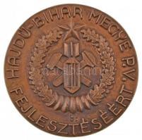 Lajos József (1936-) 1985. Hajdú-Bihar Megye - Polgári Védelem fejlesztéséért egyoldalas Br érem tokban (86,5mm) T:2 ph.