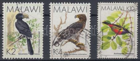 1988 Madarak záróértékek Mi 514-516