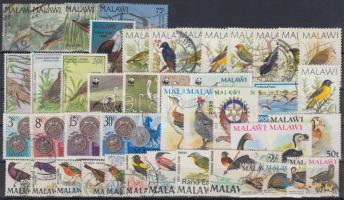 1968-1997 Madár motívum 45 db klf bélyeg, közte teljes sorok