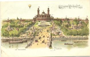 1900 Paris, Exposition Universelle, Le Trocadéro, Serie 535 No. 14. litho