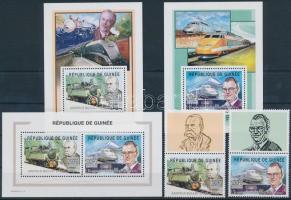 2002 Francia vasút történelme szelvényes sor Mi 3989-3990 A + kisív sor 3989-3990 II A + blokksor 761-762 A