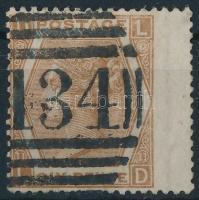1872 Mi 38 Pl 11 szélesre fogazva