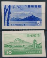 1953 Nemzeti park blokkból kivágott értékek Mi 613-614 B