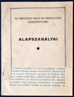 1932 Az Országos magyar protestáns Diákszövetség alapszabályai, fedőborító hiányos, pp.:20, 15x11cm