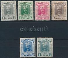 1914 Ki nem adott sor 6 értéke Mi IIa-IIg (hiányzik/missing Mi IIf)(rozsda/stein)