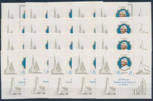 1987 II. János Pál pápa 20 db blokk Mi 103