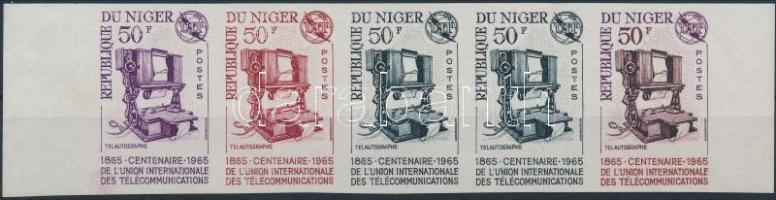 1965 A Nemzetközi Telekommunikációs Unió színpróba vágott ötöscsík Mi 101