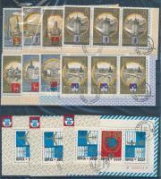 Szovjetunió összeállítás Olimpiai városok 6 sor + 43 db blokk, 2 db berakólapon