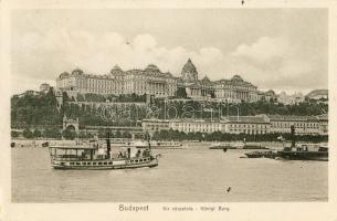 Budapest I. Királyi Várpalota, gőzhajók