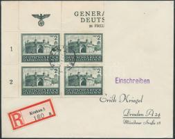 Generalgouvernement 1944 Ajánlott levél