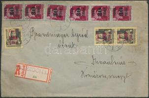 1945 (2. díjszabás) távolsági ajánlott levél 8,60P bérmentesítéssel