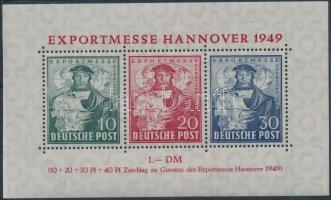 1949 Export vásár, Hannover blokk Mi 1