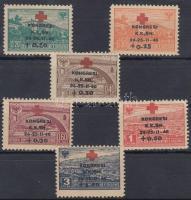 1946 Vöröskereszt sor Mi 385-390