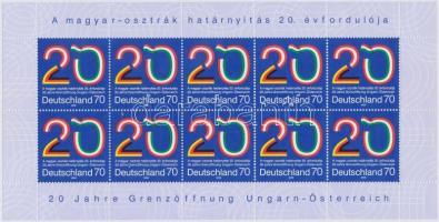 2009 Magyarország-Ausztria határnyitás 20. évfordulója kisív Mi 2759