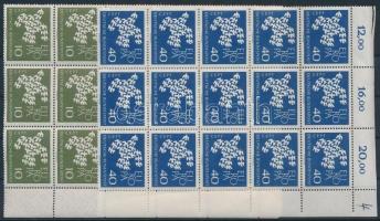 1961 Europa CEPT sor ívsarki 15-ös tömbben Mi 367-368