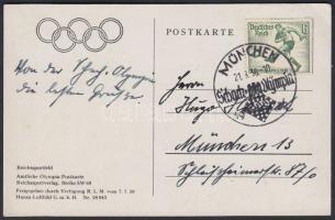 1936 Sakkolimpia alkalmi bélyegzés olimpiai képeslapon