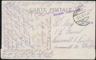1918 Tábori lap Franciaországból Bayer. Ballonzug 208