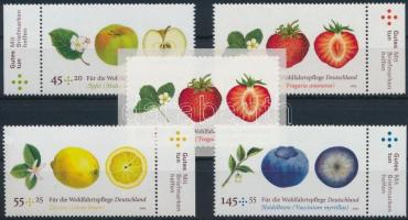 2010 Gyümölcs sor + 1 önálló érték Mi 2769-2772, 2777