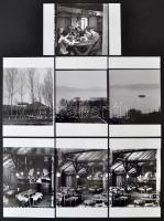 1969 Balaton-parti Piroska csárda, 7 db szabadon felhasználható, jogdíjmentes professzionális 6x6 cm-es negatív és ezekről készült 7 db modern nagyítás 10x15 cm-es fotópapíron