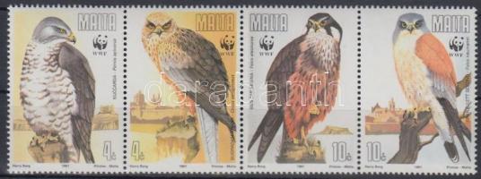 1991 WWF: madarak négyes csík Mi 864-867
