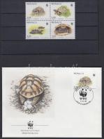 1991 WWF: 4-es tömb és 4 FDC Mi 2046-2049