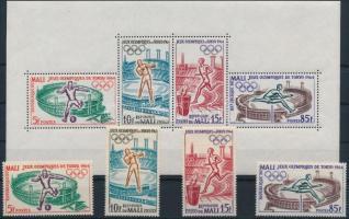 1964 Nyári olimpia sor Mi 86-89 + blokk 2