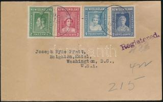 Newfoundland registered letter to Washington, Új Fundland Ajánlott levél Washingtonba