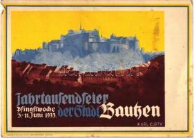 1933 Jahrtausendfeier der Stadt Bautzen / Millennium of the city of Bautzen s: Karl Kurth (small tear)