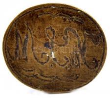 K. J. M. monogramos kisméretű ovális réz pecsétnyomó, 2,5×2 cm