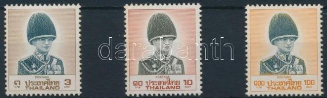 Definitive 3 stamps from set (missing Mi 1281), Forgalmi sor 3 értéke (hiányzik/missing Mi 1281)