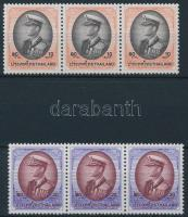 Definitive set in stripes of 3, Forgalmi sor hármascsíkokban