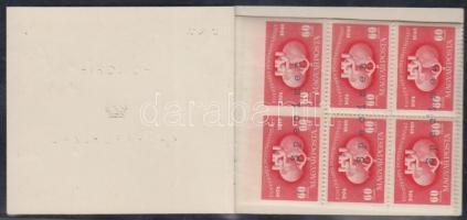 1949 UPU Speciális füzet (benne D pár + 2 szélén fogazatlan C négyestömb) (250.000) SPECIMEN! Mindössze néhány darab ismert!! / Special stamp booklet SPECIMEN