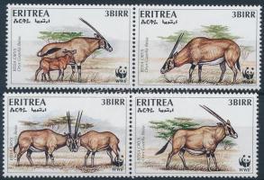 WWF: Antelope set in 2 pairs + 4 FDC, WWF: Nyársas antilop sor 2 párban + 4 FDC