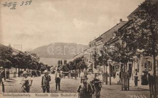 Odorheiu Secuiesc, street, Székelyudvarhely, Kossuth utca, Budvár; Sterba Ödön kiadása