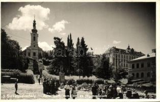 Odorheiu Secuiesc, Roman catholic church and grammar school, Székelyudvarhely, Római katolikus templom és főgimnázium
