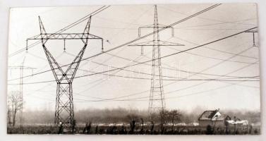 Behálózva, fotó kartonra kasírozva, verzón Albrecht Gyula felirattal, 20x39cm