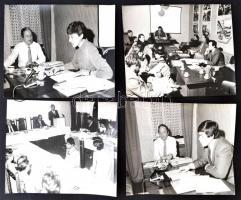 cca 1960-70 Az elvtársak munkában, vegyes, leginkább nagy méretű fotó tétel azonosítandó személyekkel, cca 30db