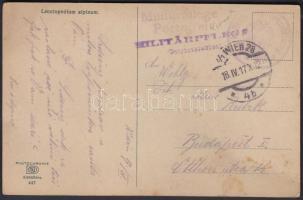 1917 Tábori posta képeslap Militärpflege Portofrei