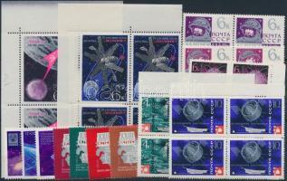1966-1968 Űrkutatás motívum 35 db bélyeg, közte teljes sorok, összefüggések, 1966-1968 Space Exploration 35 stamps with sets