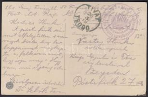 1915 Tábori posta képeslap K. und K. Festungsartillerieregiment Freiherr von Rouvrey Nr5 / Ersatzkompaniekader Nr.1