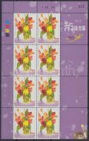 Flowers block of 8, Virág 8-as tömb