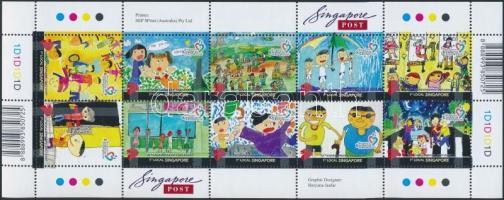 Children's Drawings minisheet, Gyermekrajzok kisív